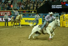 Jojo roping at last year's NFR