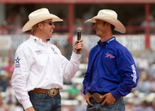 Jojo being interviewed by Kyle Shobe at last year's Cheyenne Frontier Days