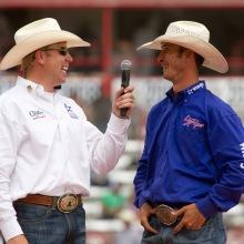 Jojo being interviewed by Kyle Shobe at last year's Cheyenne Frontier Days