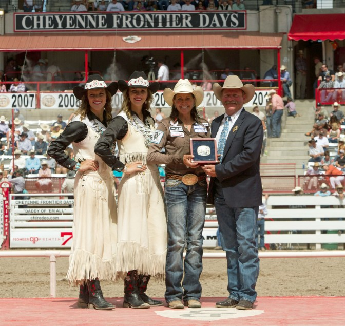 Lisa won the 2015 Cheyenne Frontier Days Rodeo