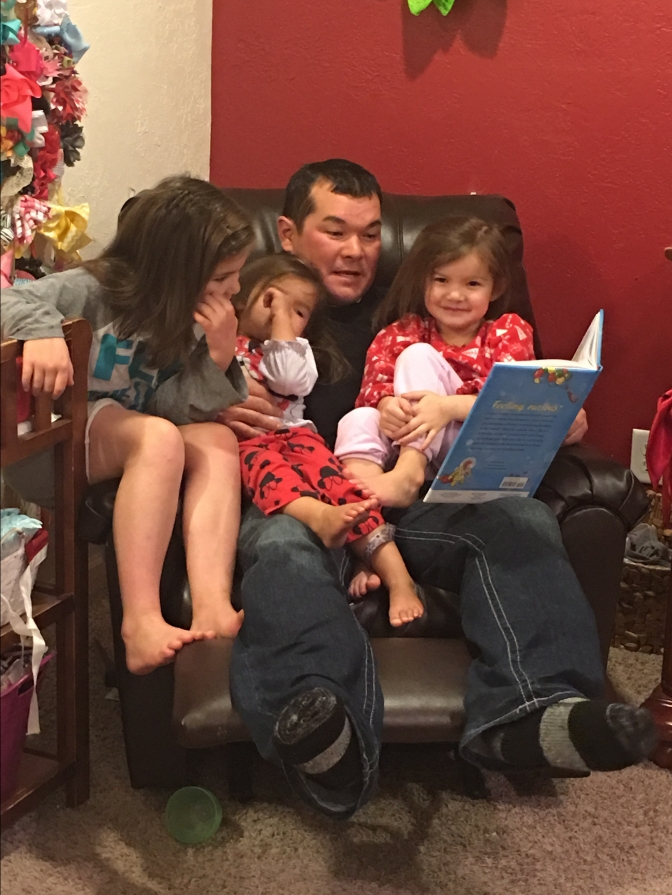 matt reading to the girls