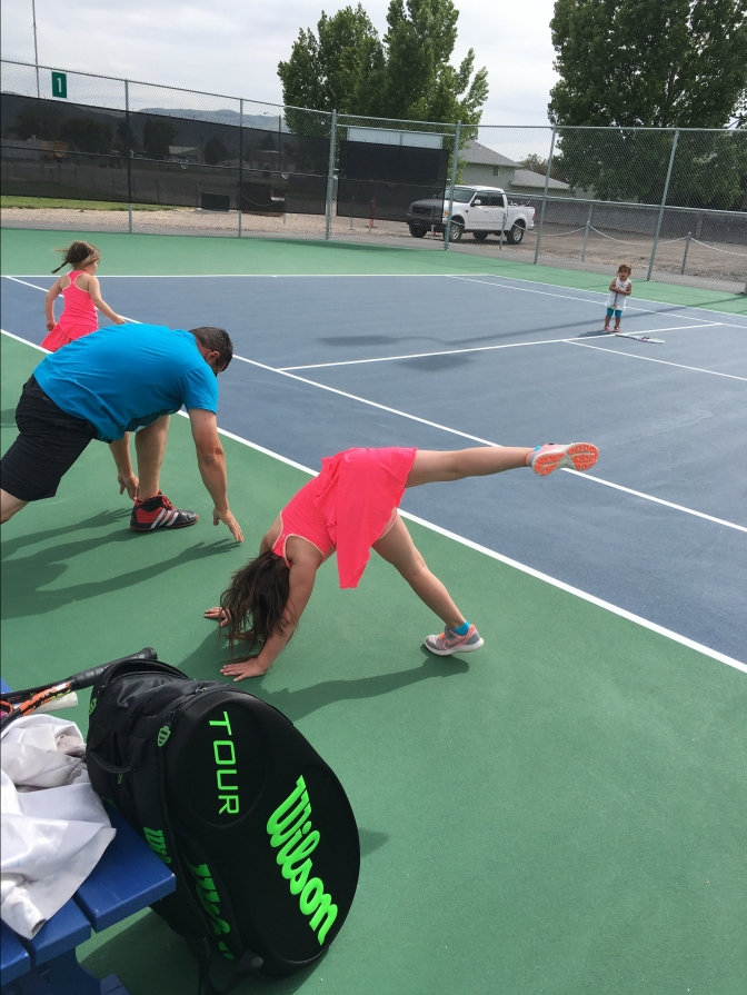 stretching before tennis